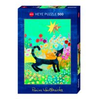 Heye - Puzzle 500 pièces : Chat Fleur, Rosina Wachtmeister