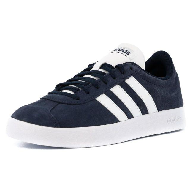 Chaussures mode ville Vl court 2.0 nv blc nubuk Bleu 35391