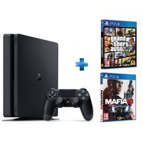 PS4 500Go Chassis D NR SLIM + MAFIA 3 - PS4 + GTA V - PS4