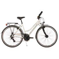 KS CYCLING - VTC femme 28'' Norfolk multi blanc TC 53 cm