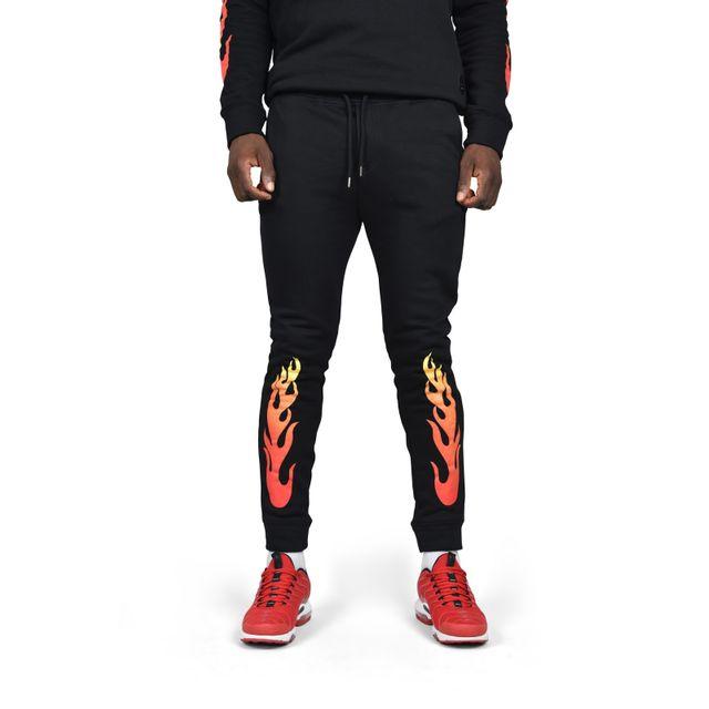7be8cfdbb5c Project X - Pantalon de jogging avec imprimé Flamme homme Project X Paris