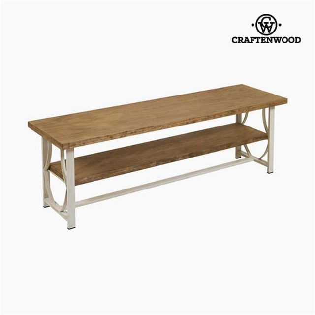 Craftenwood banc tv bois forge beige collection for Banc tv bois