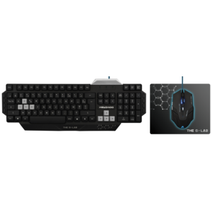 THE G-LAB - Pack Gaming G-lab : Clavier Keyz, 100 + Souris KULT80 + Tapis de souris K-PAD