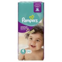 Pampers - Active Fit Taille 4, 8 a 16 kg 54 couches