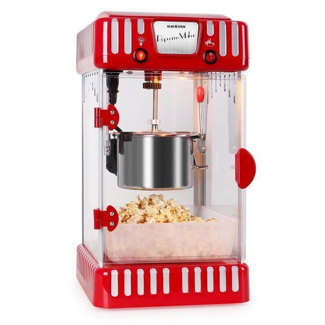KLARSTEIN Volcano Machine à popcorn style rétro bol acier inox 74ml 300w