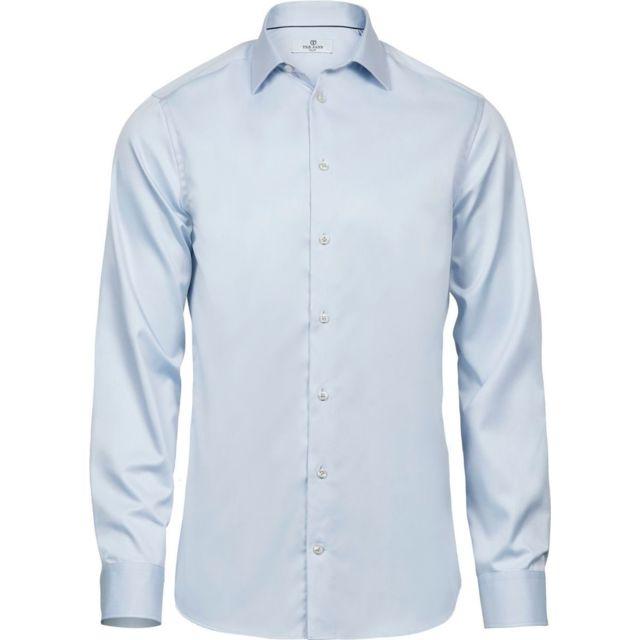 Tee-jays Chemise homme Slim Fit - 4021 - bleu clair - manches longues
