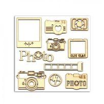 Artemio - 10 formes en bois pour scrapbooking Photographie - Clic Clac