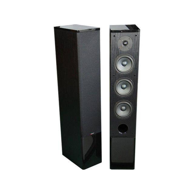 advance acoustic paire d 39 enceintes colonne bluetooth amplifi e air 150 noir pas cher achat. Black Bedroom Furniture Sets. Home Design Ideas
