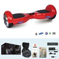 Cool And Fun - Cool&FUN Hoverboard Batterie Samsung, Scooter électrique Auto-équilibrage,gyropode 6,5 pouces Rouge