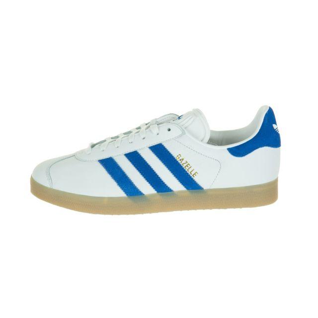 Adidas originals - Basket Gazelle - Ref. S76225 Blanc - 37 1/3 - pas cher Achat / Vente Baskets homme - RueDuCommerce