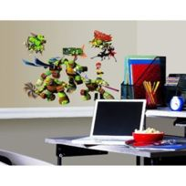 Room Studio - Tortues Ninja Stickers Muraux Enfant 4 Planches Repositionnables