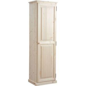 aubry gaspard armoire en bois brut pas cher achat vente meuble bas salle de bain. Black Bedroom Furniture Sets. Home Design Ideas