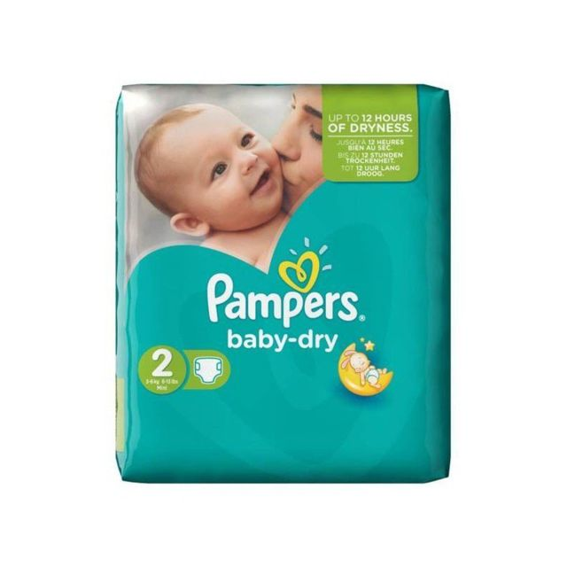 Marque Generique Pack 58 Couches Pampers Baby Dry De Taille 2