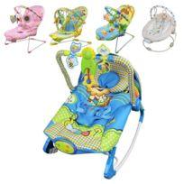 MONSIEUR BEBE - Transat bébé vibrant et musical + Barre à jouets et dossier inclinable