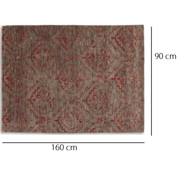 Inside 75 - Basanti Tapis laine rouge taupe N/A