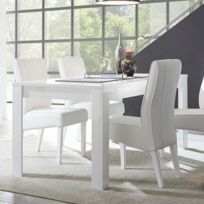 Table salle a manger laque blanc - catalogue 2019 - [RueDuCommerce ...