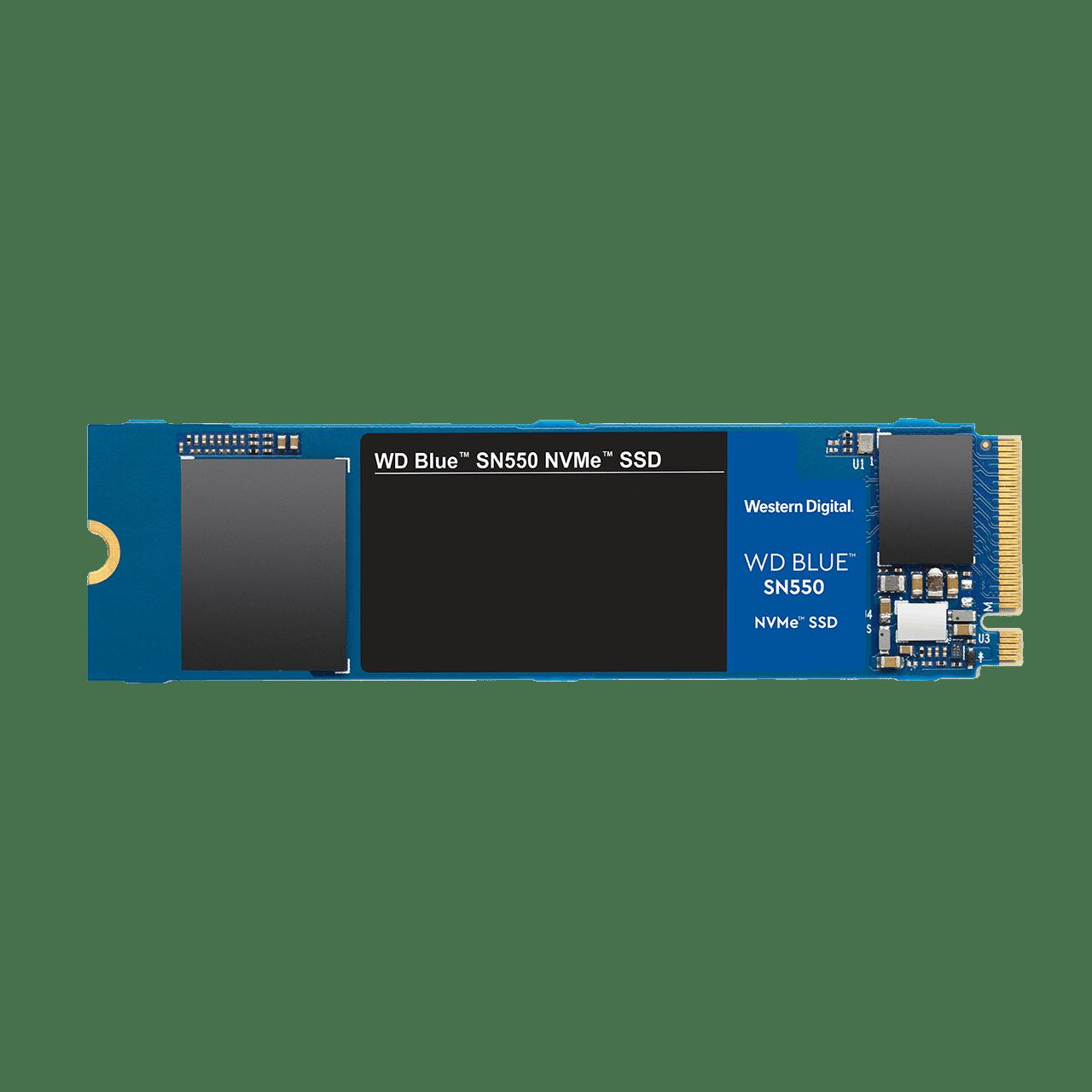 Disque dur interne SSD SN550 NVMe 500 Go Western Digital Bleu