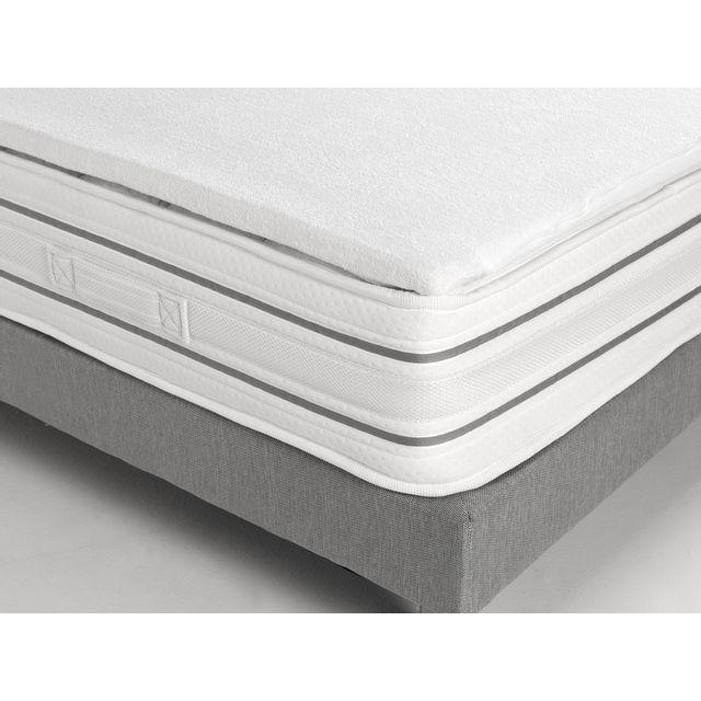 Sleepissime Surmatelas 160x200 mousse mémoire de forme enveloppe polyester Empreinte