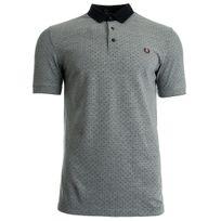 Fredperry - Polka Dot Oxford Pique shirt Dark Carbon