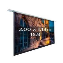 Kimex - Ecran de projection électrique encastrable 2,00 x 1,13m, format 16:9