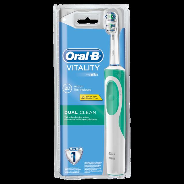 ORAL-B Vitality Dual Clean Brosse à dents électrique rechargeable avec minuteur intégré