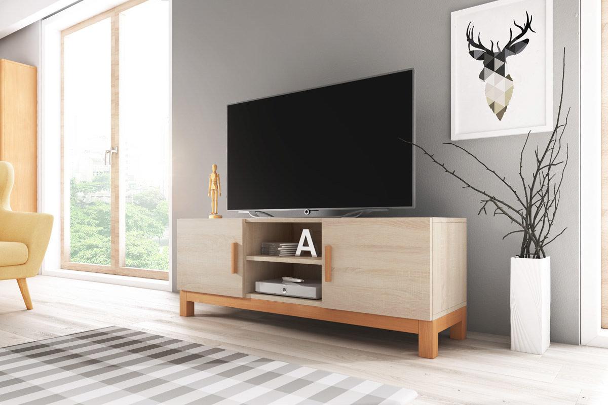 Meuble Tv Design Norge coloris chêne sonoma