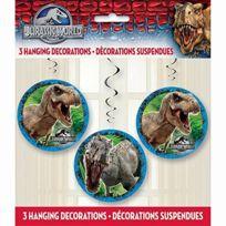 Jurassic World - Jurassique Monde 3 - PiÈCES De DÉCORATION Guirlandes Set - 3 PiÈCES Hanging DÉCORATIONS