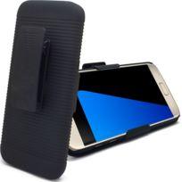 Caseink - Coque Housse Etui Clip Ceinture et fonction Stand, Samsung Galaxy S7 Noire