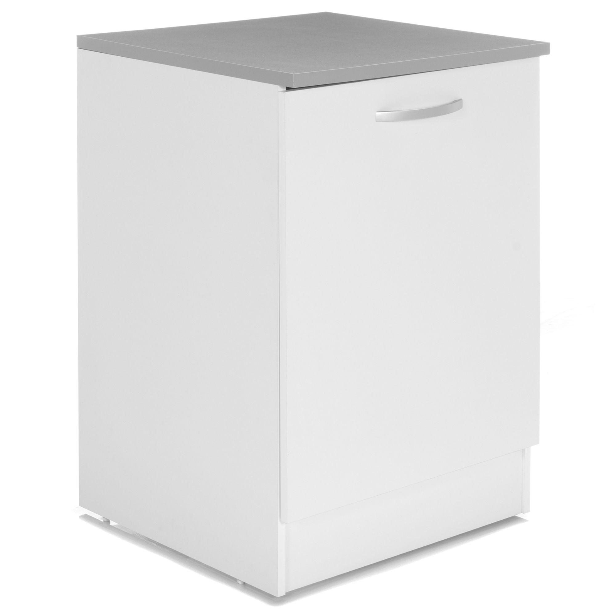 Alinéa - Eko Cuisine Meuble de cuisine bas blanc 1 porte 60cm