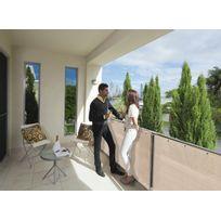 Jardideco - Brise vue pour balcon 500 x H.90 cm Sable