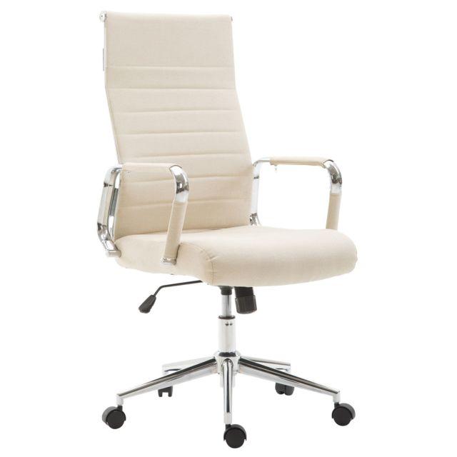 Moderne chaise de bureau, fauteuil de bureau Oslo en tissu