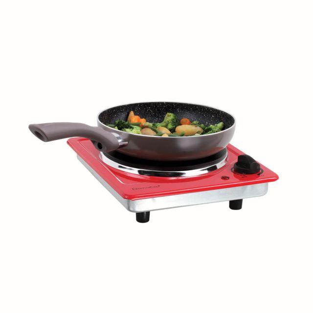 DOMOCLIP Plaque de cuisson électrique rouge DOC167R