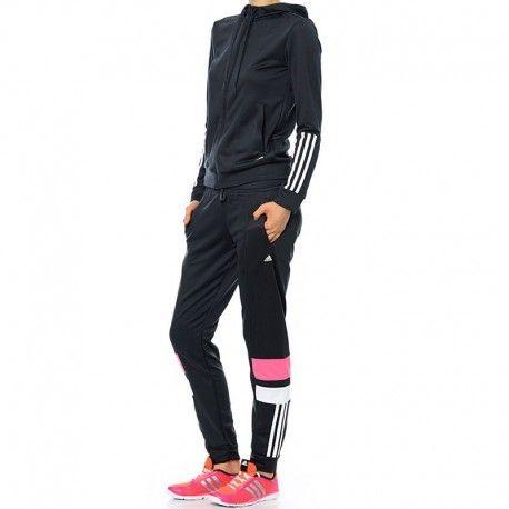 Adidas originals - Survêtement Iconic Noir Entrainement Femme Adidas ... 5b036518f20