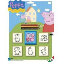 Multiprint - 5875 - Tampons À Imprimer - Blister De 5 Tampons - Peppa Pig