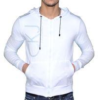 Calvin Klein - En Solde Veste Legere à Capuche - Homme - Cmq184 - Blanc