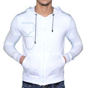 Calvin Klein Veste Legere à Capuche Homme Cmq184 Blanc XL