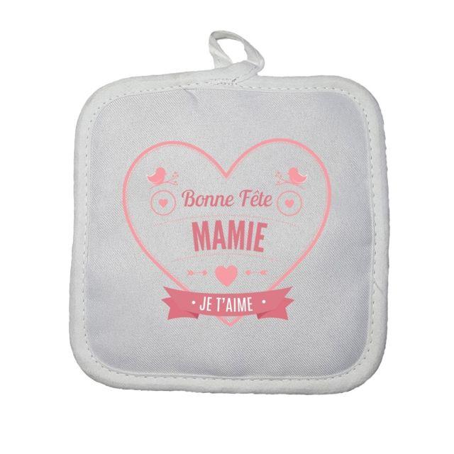 Manique Cuisine Bonne Fête Mamie Cœur Rouge