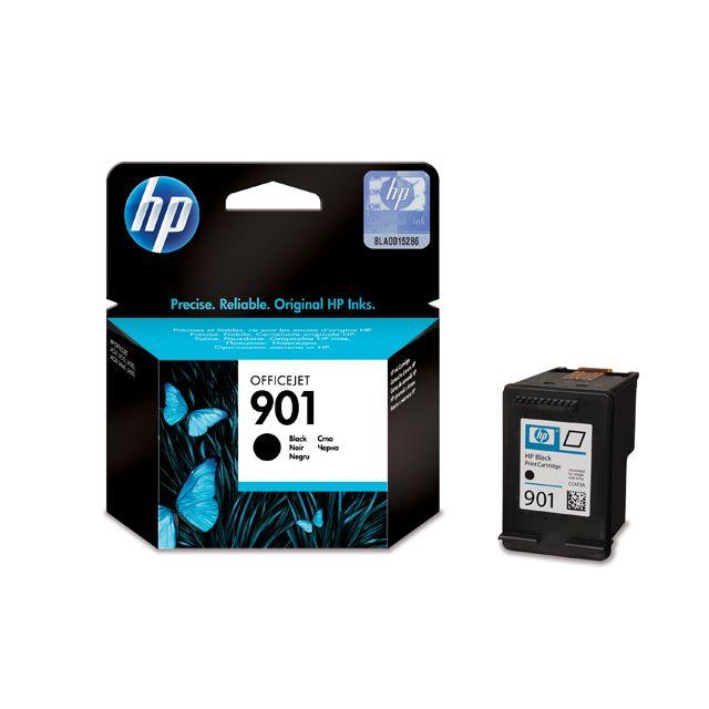 HP Cartouche d'encre Noire n° 901- CC653AE - Capacité 200 pages