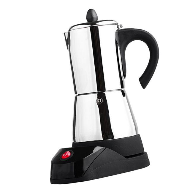 Espresso électrique latte percolateur poêle top cafetière moka pot 4 tasse