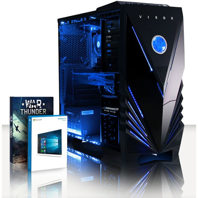 VIBOX Processeur CPU AMD FX Quad Core - Nvidia GeForce GTX 1080 8 Go - 16 Go RAM - Disque Dur 2 To - Windows 10