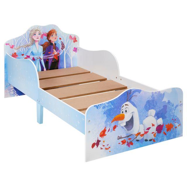 Pegane Lit enfant avec espace de rangement sous le lit motif Reine des neiges
