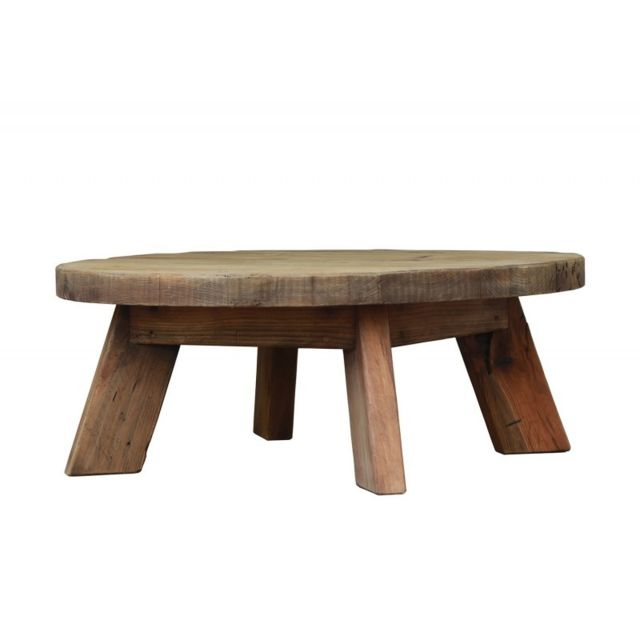 Meubletmoi Table basse ronde 90 cm - Collection Chalet