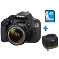 CANON - EOS 1200D + EF-S 18-55mm f/3.5-5.6 IS II + 8GB DFIN + sacoche fourre-tout