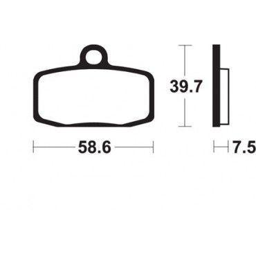 PLAQUETTES DE FREIN TECNIUM-MO283 KTM SX 65 SX 85 HUSQVARNA TC 65