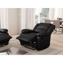 USINESTREET - Fauteuil Relaxation 1 place Simili cuir DETENTE - Couleur - Noir