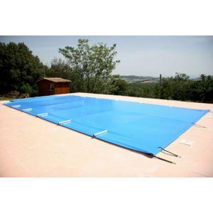 Jm b ches couverture barres secu classic amande pas for Carrefour bache piscine