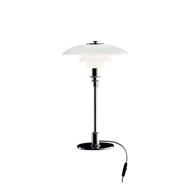 Louis Poulsen Lampe de table Ph 3/2 - brillance intense chromé