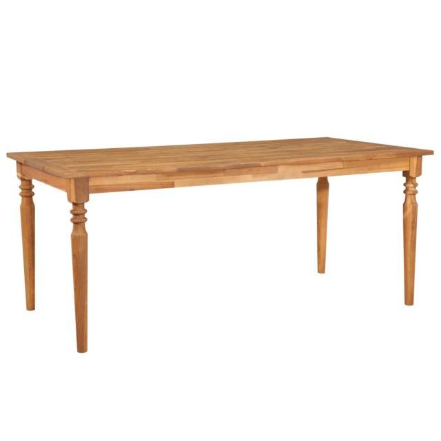 Table de salle à manger de jardin Bois d\'acacia 180x90x75 cm