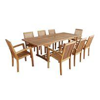 table de jardin en bois imputrescible - Achat table de jardin en ...