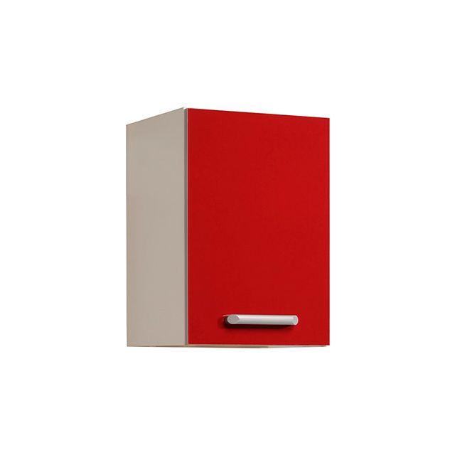 Meuble haut L40xH58xP36cm - rouge brillant